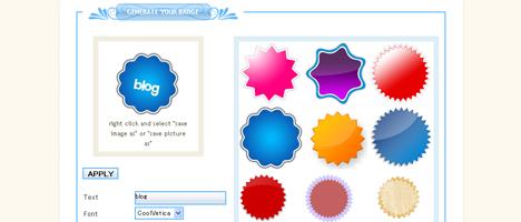 Web 2.0 Badgesを作成してくれるサイト